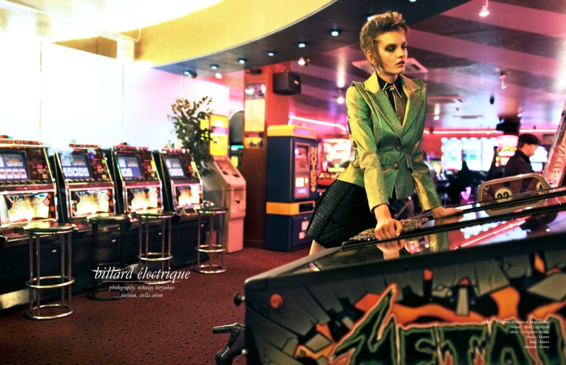 nikolay rock roll shoot1 Billard Electrique: Yulia Musieichuk is Rocker Chic for Schon by Nikolay Biryukov