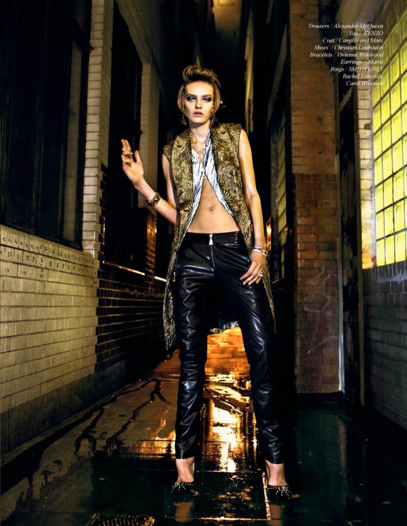 nikolay rock roll shoot7 Billard Electrique: Yulia Musieichuk is Rocker Chic for Schon by Nikolay Biryukov