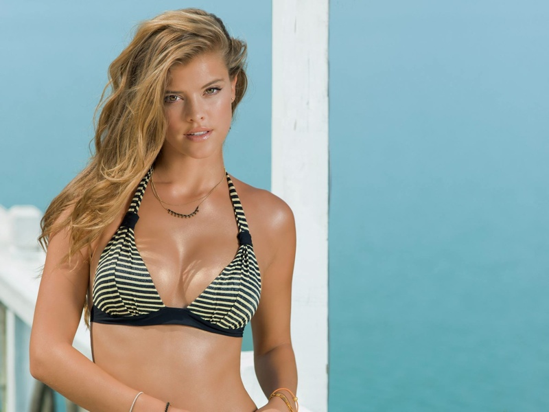 nina agdal banana moon spring 2014 10 Nina Agdal Models Summer Bikinis in Banana Moon Shoot