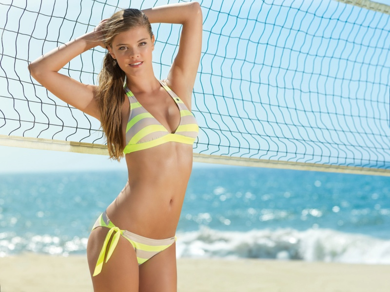 nina agdal banana moon spring 2014 6 Nina Agdal Models Summer Bikinis in Banana Moon Shoot