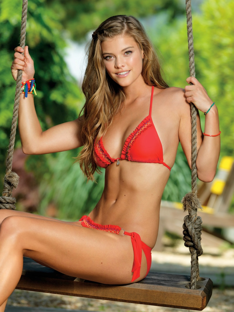 nina agdal banana moon spring 2014 7 Nina Agdal Models Summer Bikinis in Banana Moon Shoot