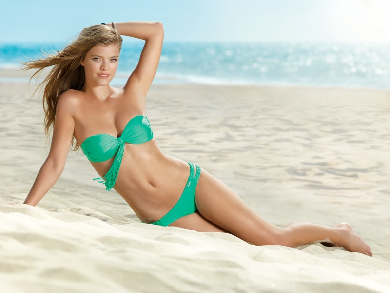 nina agdal banana moon spring 2014 8 Nina Agdal Models Summer Bikinis in Banana Moon Shoot