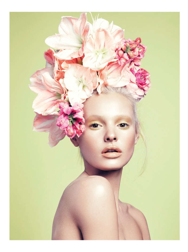 paige reifler model2 Flower Girl: Paige Reifler for Elle Vietnam Beauty by Stockton Johnson