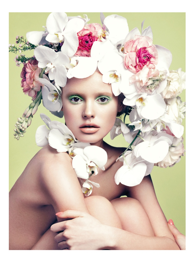 paige reifler model5 Flower Girl: Paige Reifler for Elle Vietnam Beauty by Stockton Johnson
