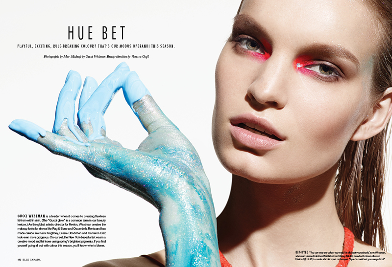 painted beauty1 Nicola Haffmans Models Painted Beauty for Elle Canada Feature