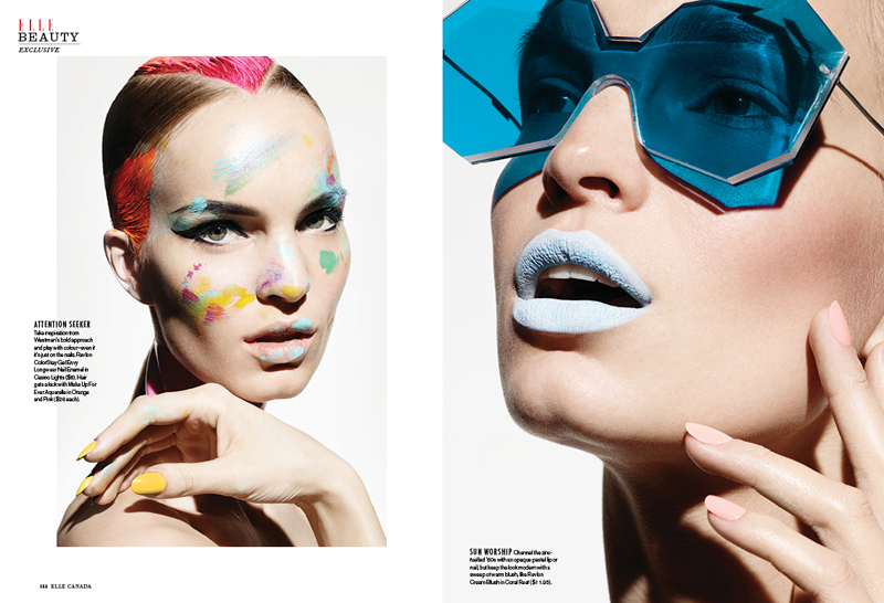 Nicola Haffmans Models Painted Beauty for Elle Canada Feature