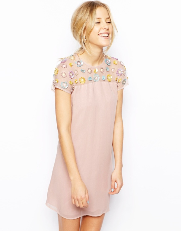 pink embellished dress 5 Spring Dresses to Get Right Now