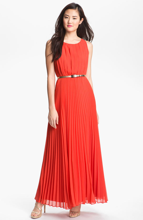 pleated maxi dress 5 Spring Break Must Haves | From Bikinis to Sunglasses