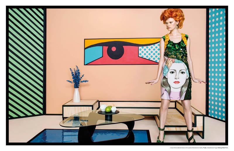 pop art an le1 Pop Art: Kelly Mittendorf Gets Retro for An Le in LOfficiel Singapore