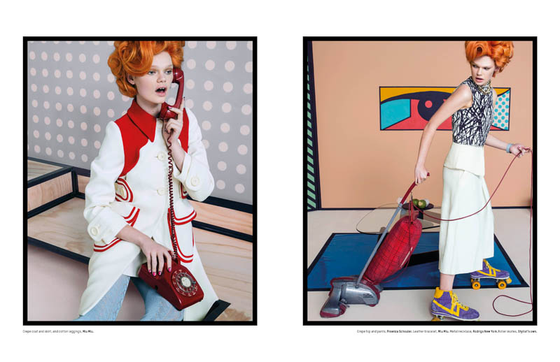 pop art an le5 Pop Art: Kelly Mittendorf Gets Retro for An Le in LOfficiel Singapore