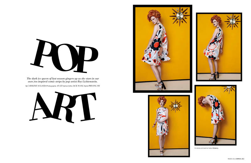 pop art an le7 Pop Art: Kelly Mittendorf Gets Retro for An Le in LOfficiel Singapore
