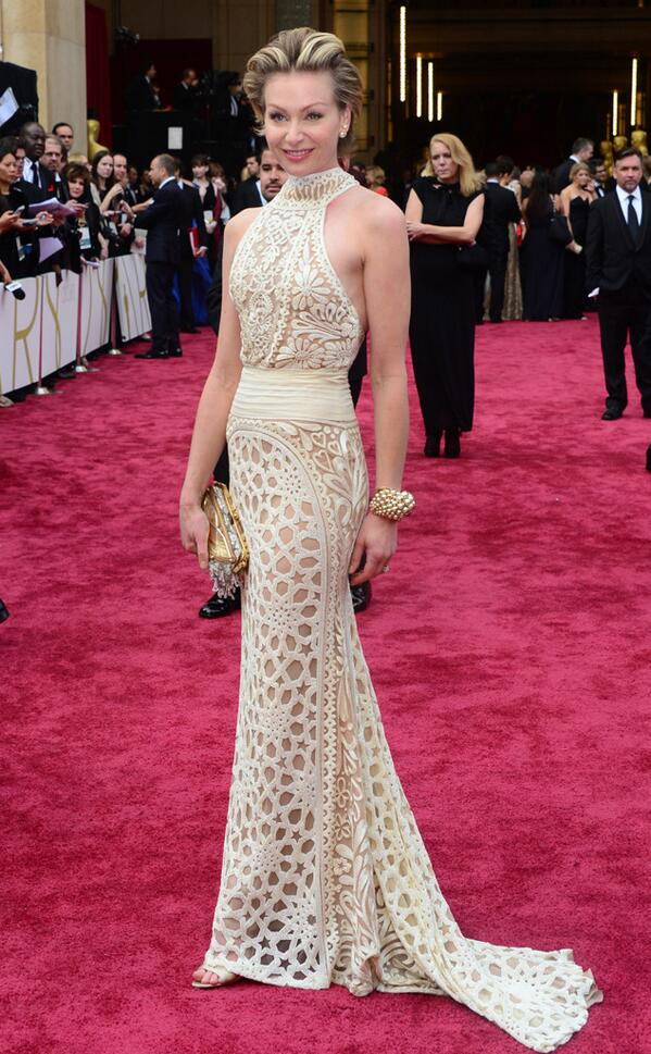 portia di rossi naeem khan 2014 Oscars Red Carpet Looks