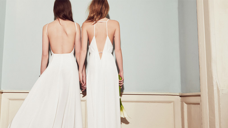 reformation wedding collection1  Camille Rowe & Karolina Babczynska Model Reformations No Fuss Wedding Apparel