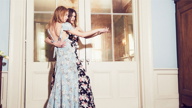 reformation wedding collection5  Camille Rowe & Karolina Babczynska Model Reformations No Fuss Wedding Apparel