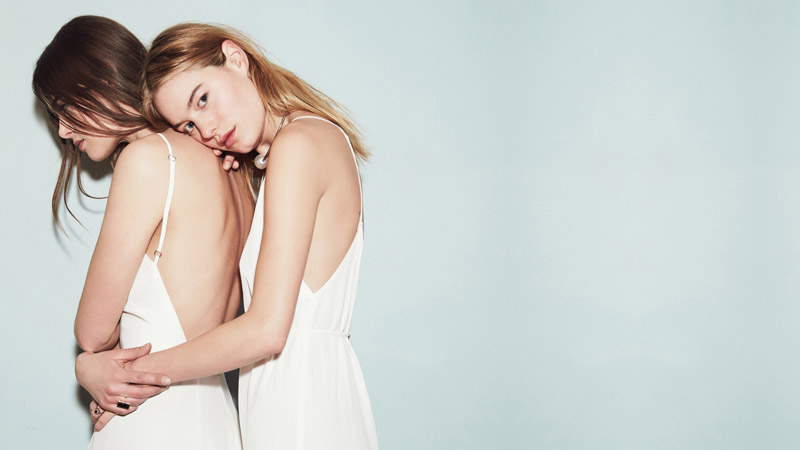 reformation wedding collection6  Camille Rowe & Karolina Babczynska Model Reformations No Fuss Wedding Apparel