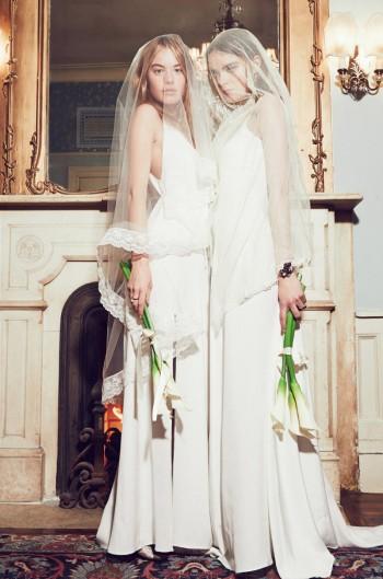 Camille Rowe & Karolina Babczynska Model Reformation's No Fuss Wedding Apparel