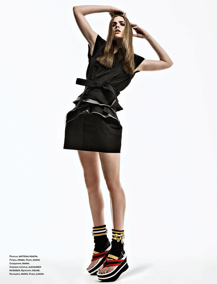Rosie Tapner Poses for Thanassis Krikis in Numéro Russia Shoot