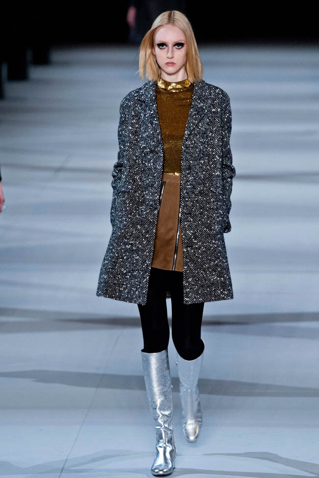 saint laurent fall winter 2014 show29 Top 5 Fall/Winter 2014 Trends From Paris, London, New York & Milan