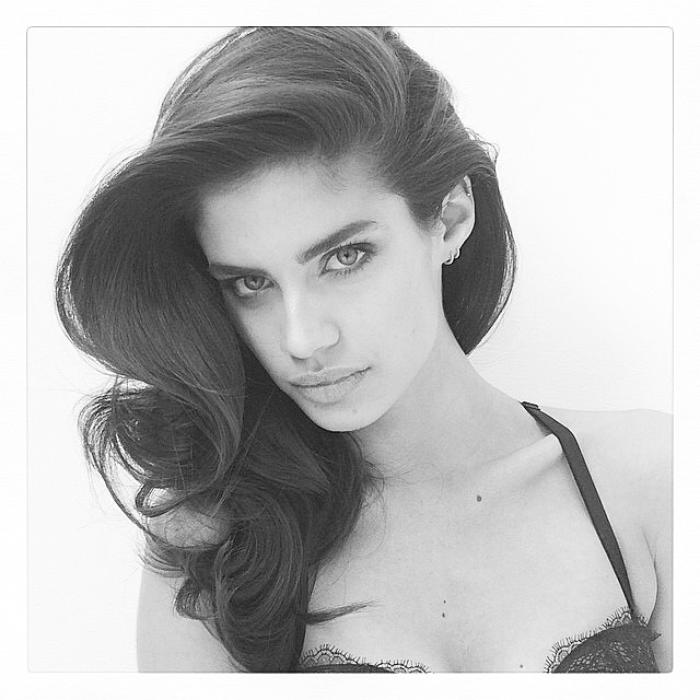 Sara Sampaio behind the scenes at upcoming shoot
