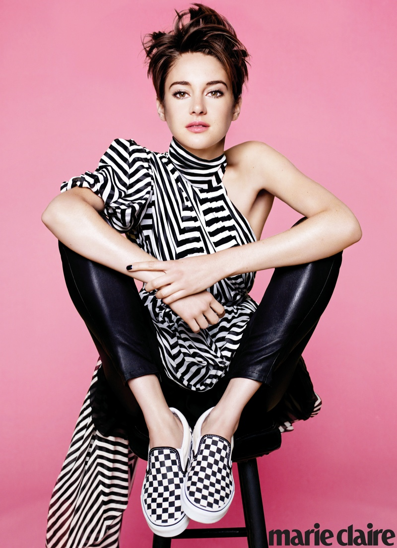 shailene woodley marie claire2 Divergent Star Shailene Woodley Covers Marie Claire, Calls Social Media Weird