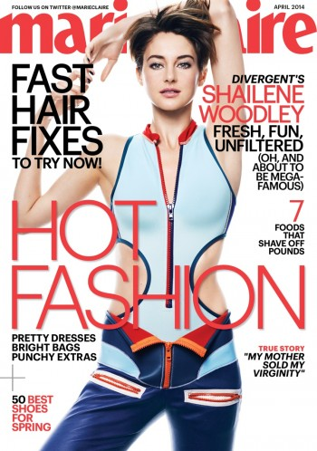 """Divergent"" Star Shailene Woodley Covers Marie Claire, Calls Social Media ""Weird"""
