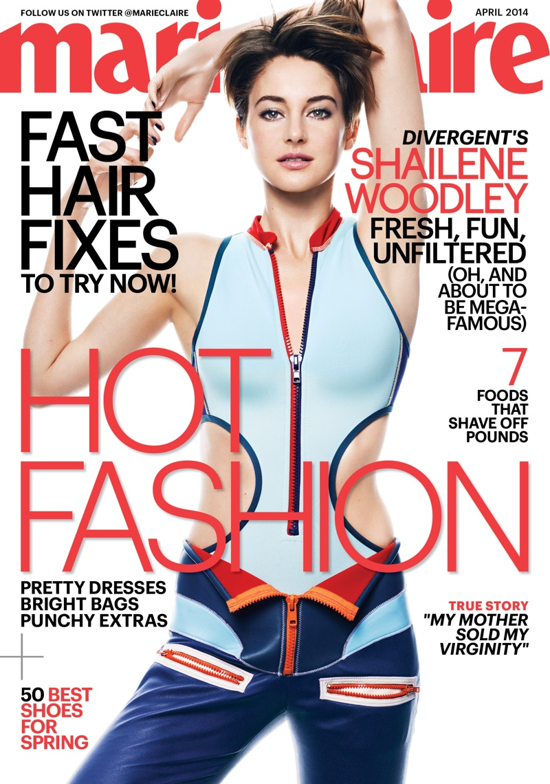 shailene woodley marie claire3 Divergent Star Shailene Woodley Covers Marie Claire, Calls Social Media Weird