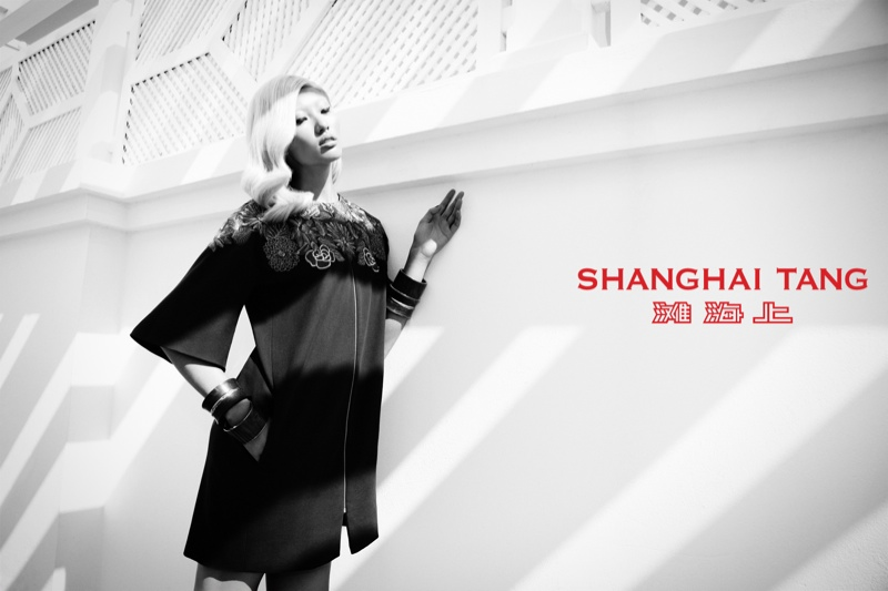 shanghai tang spring 2014 campaign3 Bonnie Chen Goes Seaside for Shanghai Tang Spring 2014 Ads by Richard Bernardin