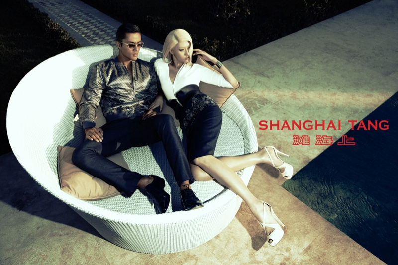 shanghai tang spring 2014 campaign6 Bonnie Chen Goes Seaside for Shanghai Tang Spring 2014 Ads by Richard Bernardin