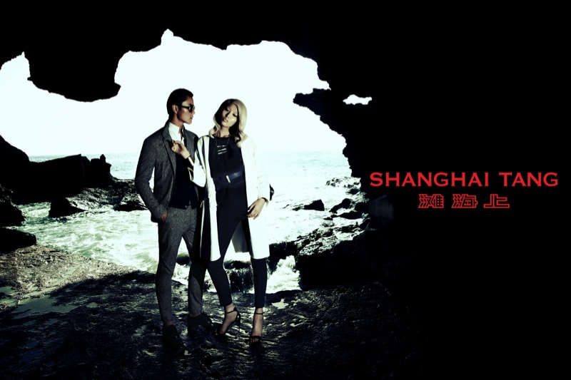 shanghai tang spring 2014 campaign7 Bonnie Chen Goes Seaside for Shanghai Tang Spring 2014 Ads by Richard Bernardin