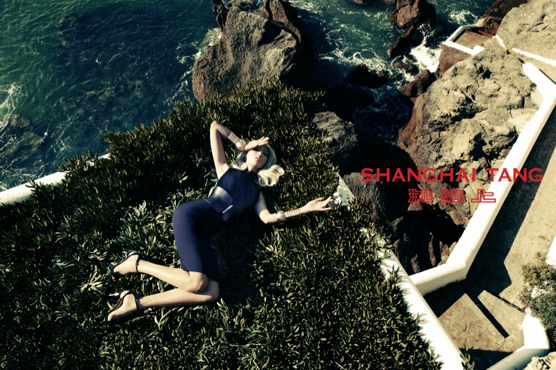 shanghai tang spring 2014 campaign8 Bonnie Chen Goes Seaside for Shanghai Tang Spring 2014 Ads by Richard Bernardin