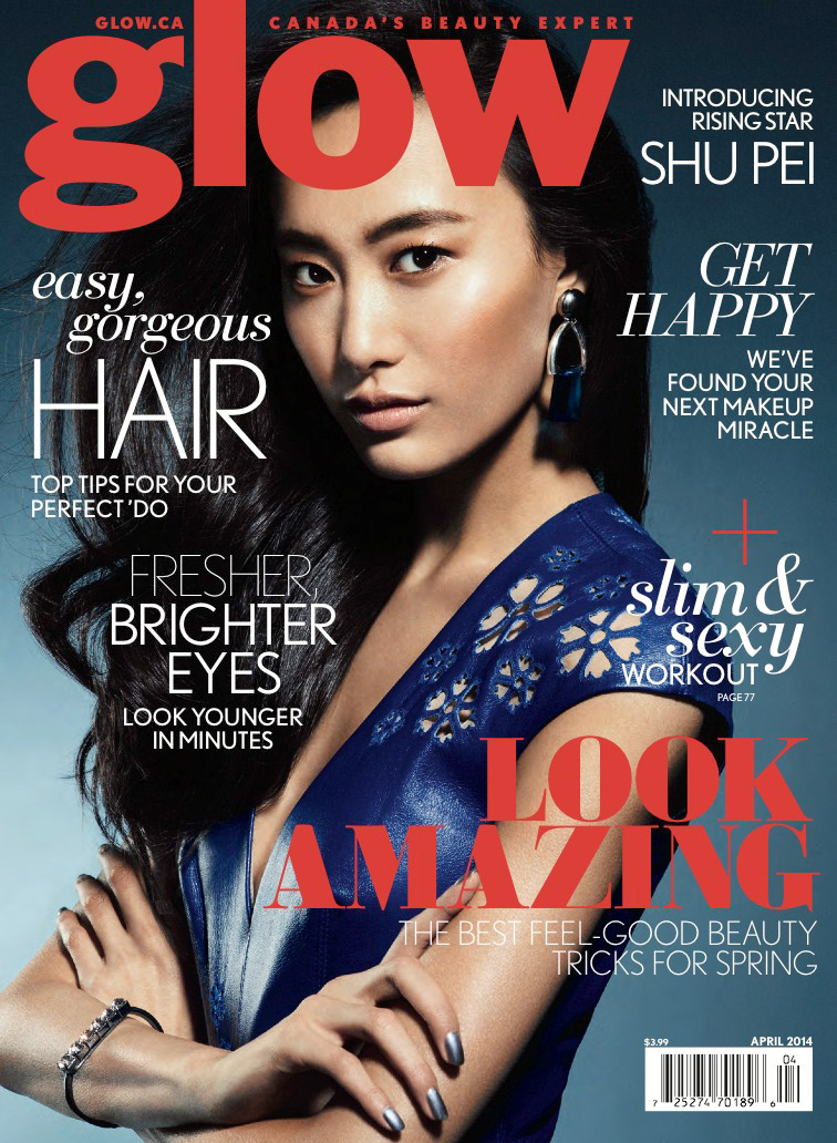 shu pei glow6 Paint it Bright: Shu Pei Wows in Glow Canada April Cover Shoot
