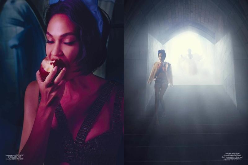 Joan Smalls & Michael B. Jordan's Modern Fairy Tale for CR Fashion Book