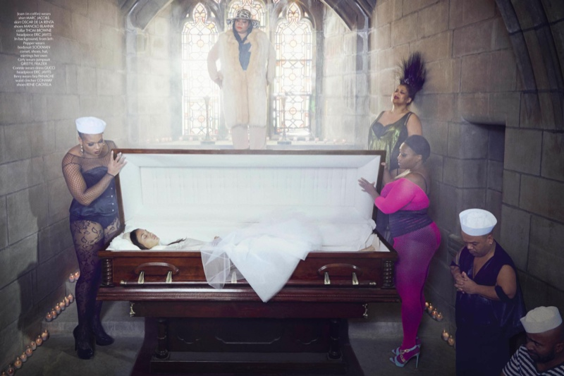 sleeping beauty lee daniels6 Joan Smalls & Michael B. Jordans Modern Fairy Tale for CR Fashion Book