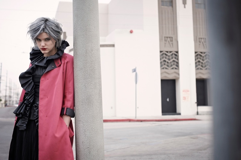 soko singer2 Soko Dons Boyish Chic Style for Eric Guillemain in LUomo Vogue