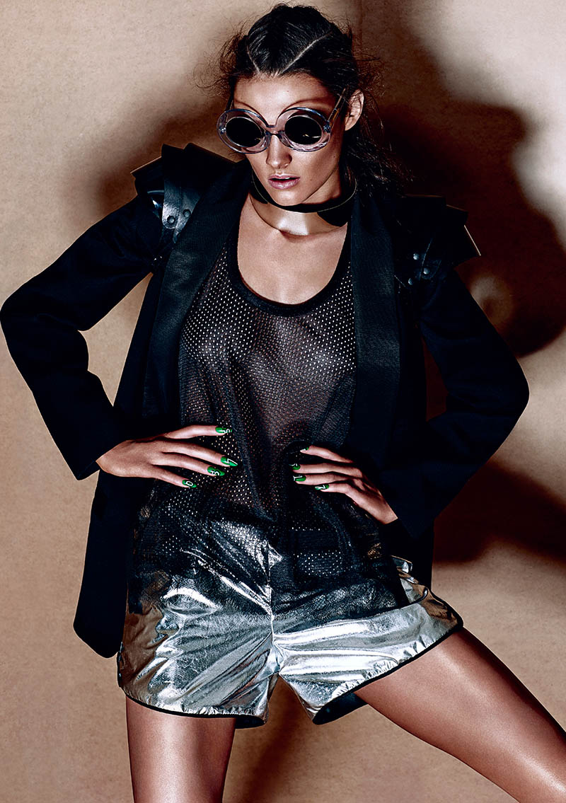 sporty glam chris nicholls3 Track & Heeled: Kristen M Gets Sporty for Chris Nicholls in Fashion