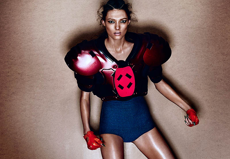 Track & Heeled: Kristen M Gets Sporty for Chris Nicholls in Fashion