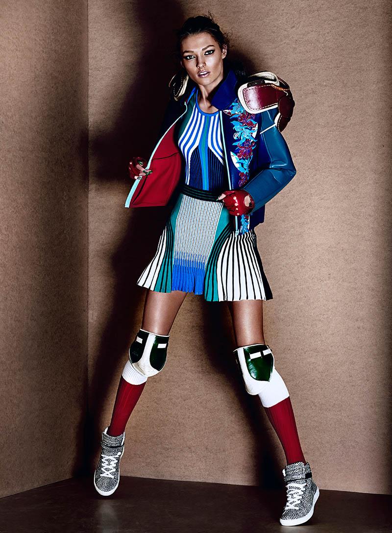 Kristen M Gets Sporty For Chris Nicholls In Fashion