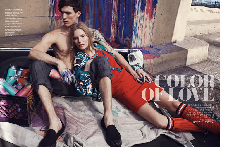 suvi koponen model1 Suvi Koponen Joins Husband Tyler Riggs for Vogue Korea Shoot by Benny Horne