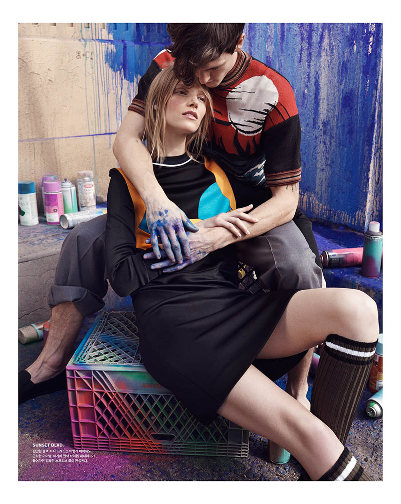 suvi koponen model6 Suvi Koponen Joins Husband Tyler Riggs for Vogue Korea Shoot by Benny Horne