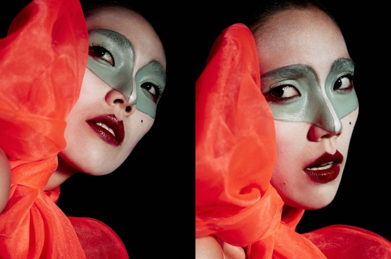 Tao Okamoto Gets Painted, Dramatic in ANew Magazine by Yelena Yemchuk