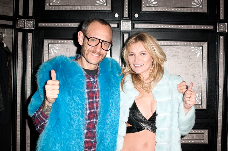 Terry Richardson with supermodel Kate Moss / Image: Terry's Diary