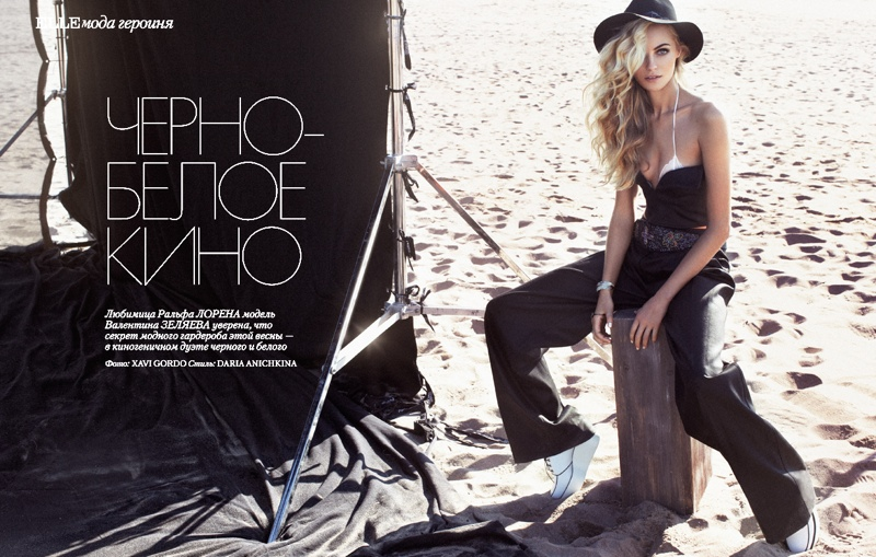 valentina zelyaeva photo shoot1 Valentina Zelyaeva Gets Beachy in Elle Russia Spread by Xavi Gordo