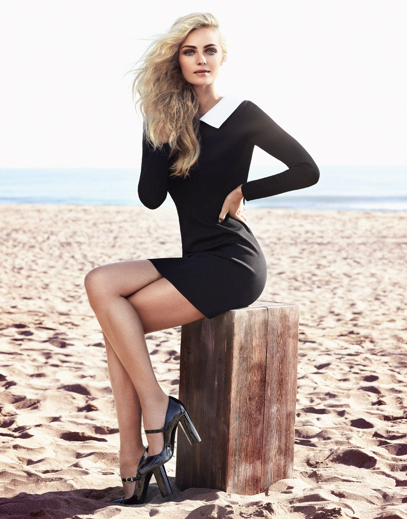 valentina zelyaeva photo shoot15 Valentina Zelyaeva Gets Beachy in Elle Russia Spread by Xavi Gordo