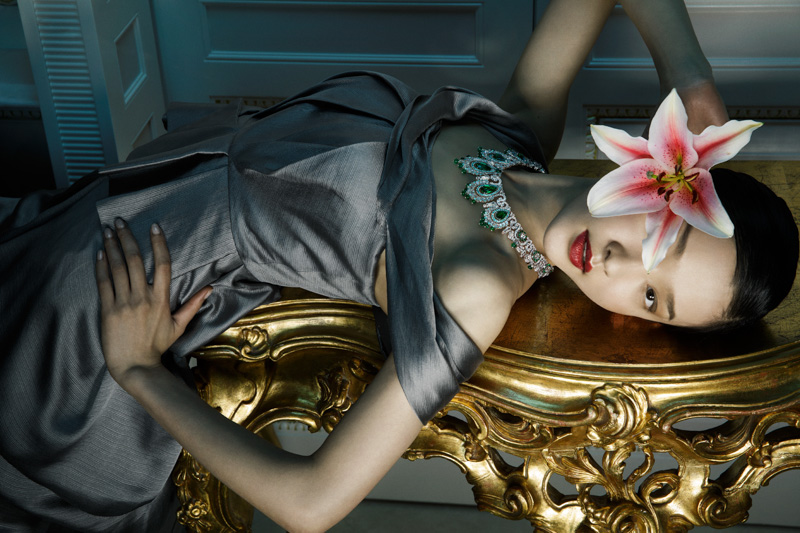 van cleef arpels pierres de caractre1 Du Juan + Bonnie Chen Shine in Van Cleef & Arpels Shoot by Richard Ramos