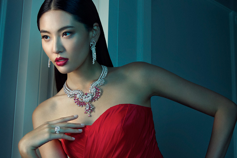 van cleef arpels pierres de caractre5 Du Juan + Bonnie Chen Shine in Van Cleef & Arpels Shoot by Richard Ramos