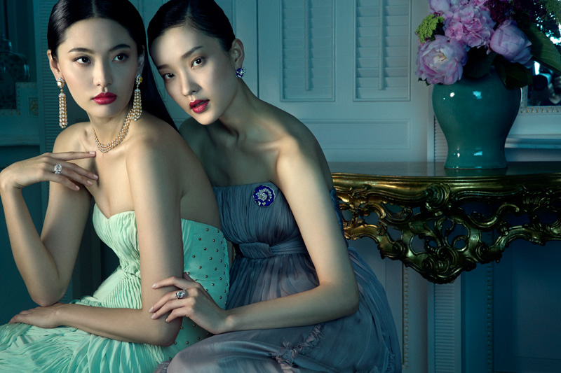 van cleef arpels pierres de caractre8 Du Juan + Bonnie Chen Shine in Van Cleef & Arpels Shoot by Richard Ramos