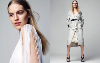 Vanessa Axente Poses in White for Marie Claire Hungary by Zoltan Tombor