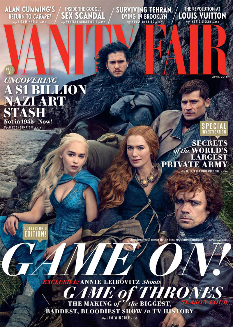 vanity fair game thrones cover The Game of Thrones Cast Covers Vanity Fair, Shot by Annie Leibovitz