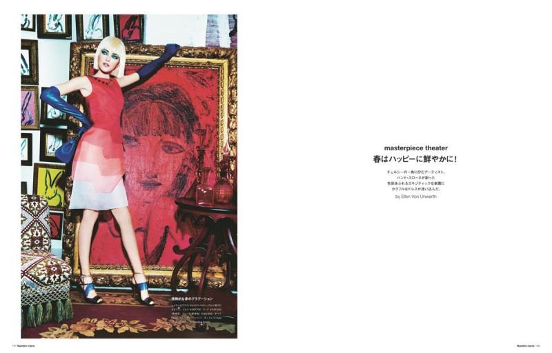 vlada numero tokyo1 800x512 Vlada Roslyakova Gets Colorful in Numéro Tokyo Shoot by Ellen von Unwerth