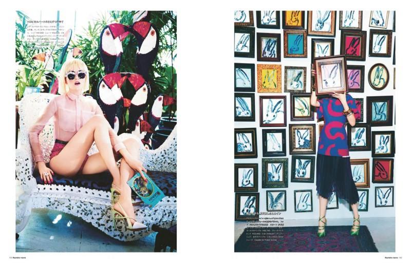 vlada numero tokyo2 800x512 Vlada Roslyakova Gets Colorful in Numéro Tokyo Shoot by Ellen von Unwerth
